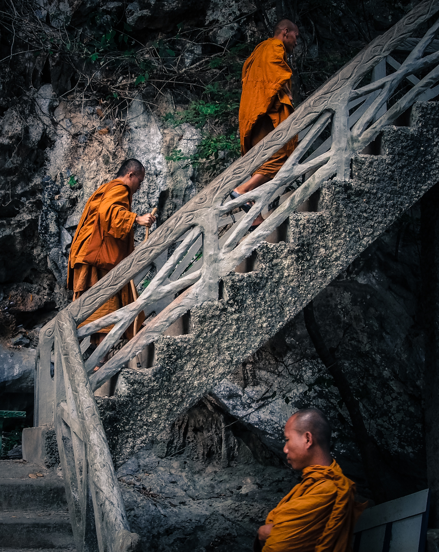 The Three Monks. Laos