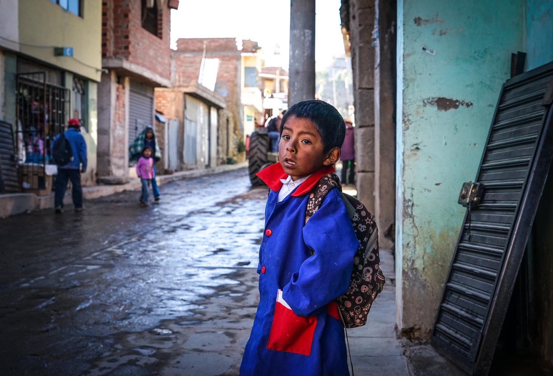 A boy in Cabanaconde, Peru