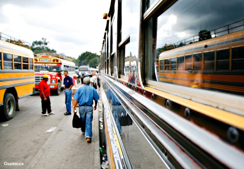 bus in Xela, Guatemala